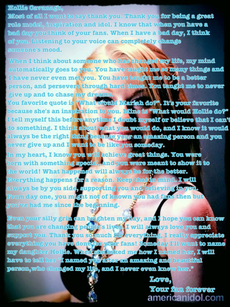 @CavanaghAI11 Hollie, I want you to read this for me. I wrote it from the heart. Thank you &lt;3