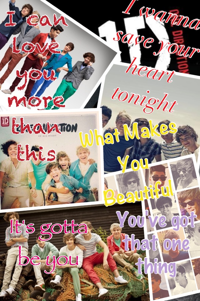 @onedirection my favorite songs by you guys I LOVE YOU!!!! ❤😍😘😝😃😄😉