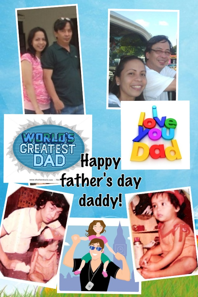 to the world's greatest dad! happy father's day!!!