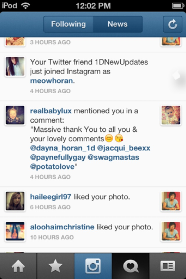 Oh my god. Baby Lux mentioned me in a comment on her instgram! :DDD