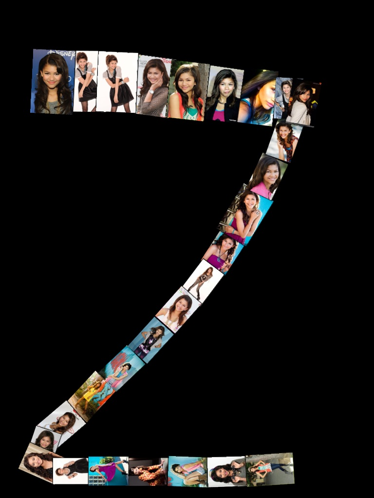 Z for @Zendaya96. Really cool collage :)