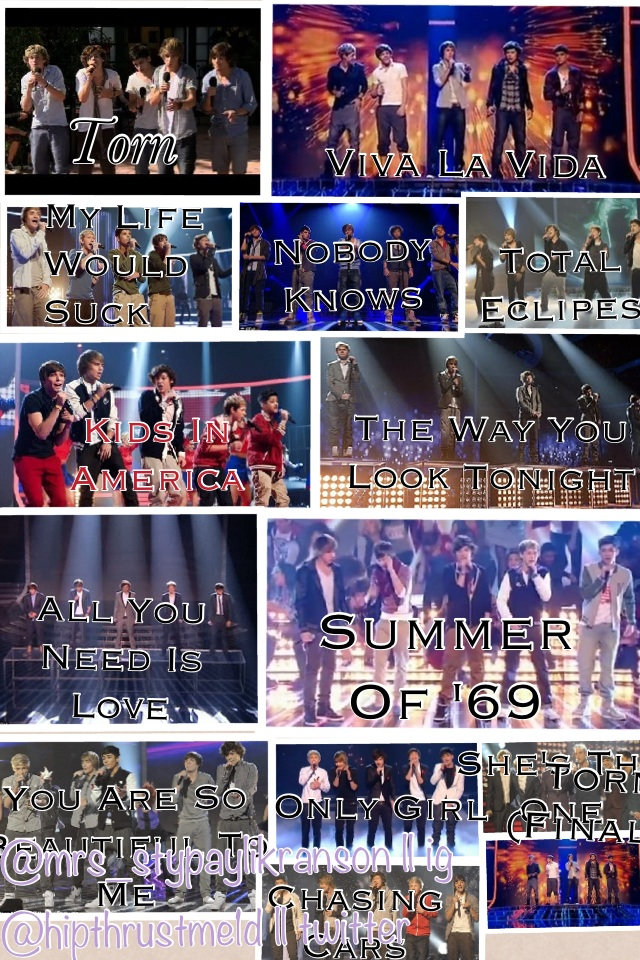 #2yearsof1d Their Songs On The X Factor <3