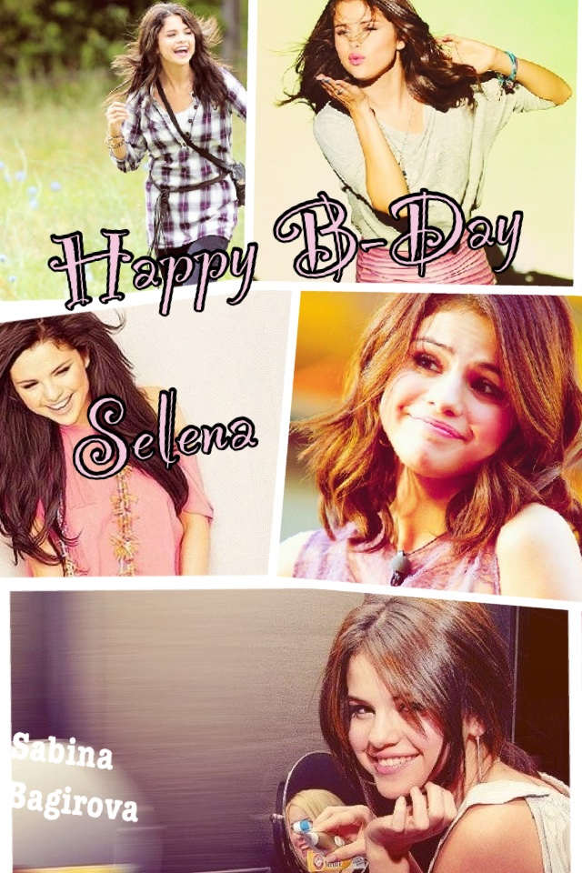 @selenagomez happy birthday selena gomez i love u so much!