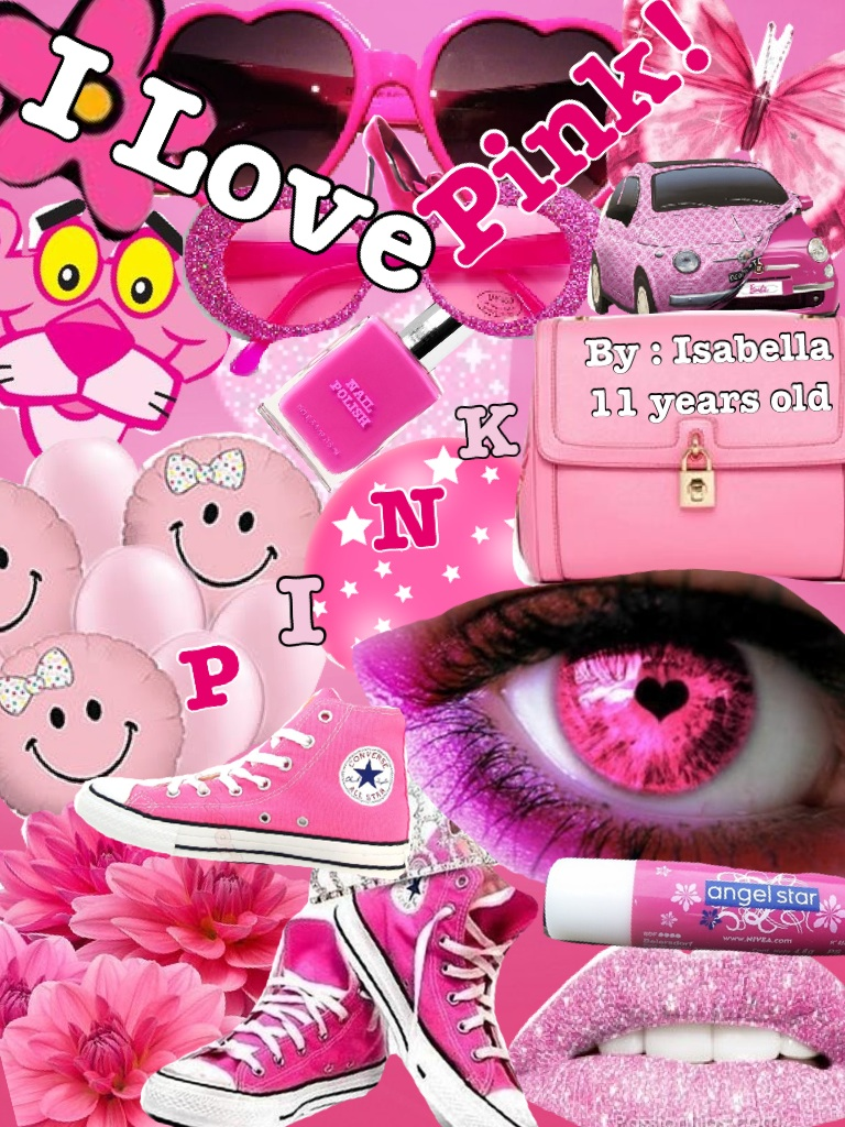 i did a collage of things With pink because i Love pink!