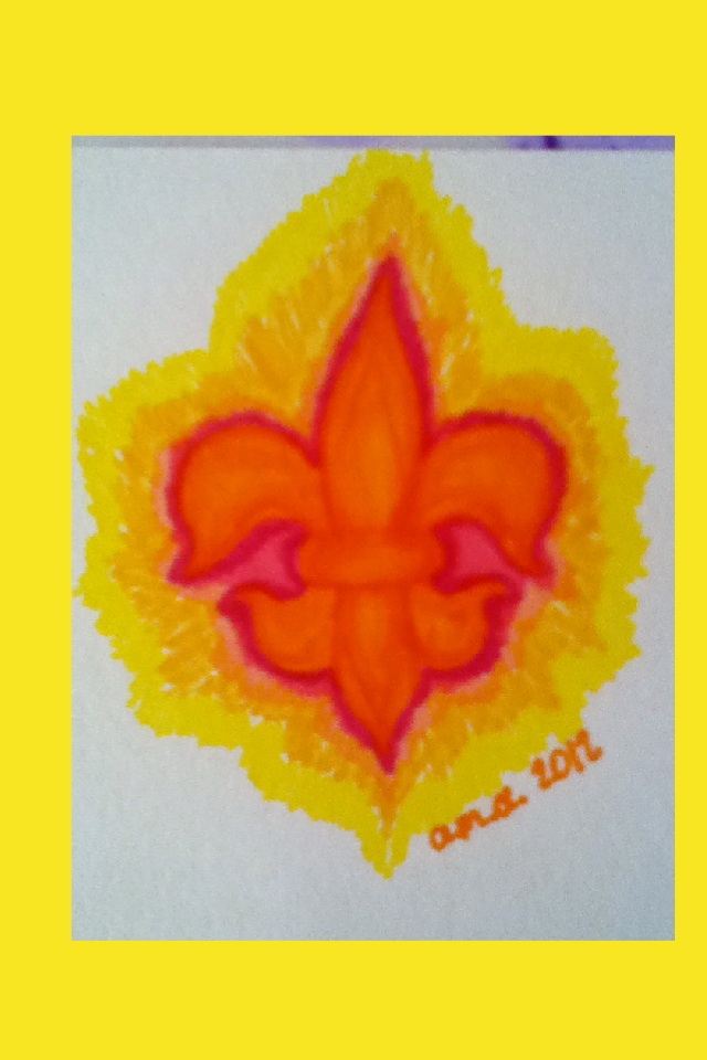 its a fleur de lis (im from louisiana) c: plz like it would make me happy c:!!!!