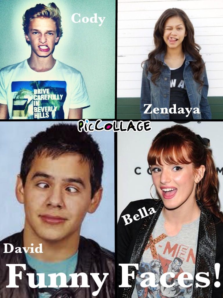 Some of my favorite celebrities making faces in a collage :D