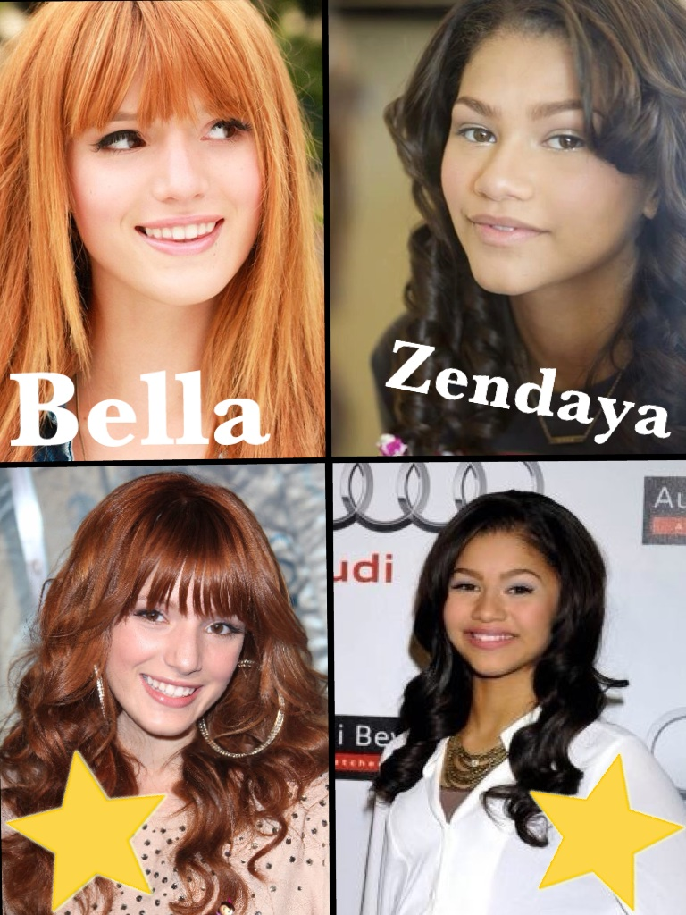 Here's a @bellathorne and @Zendaya96 collage :))