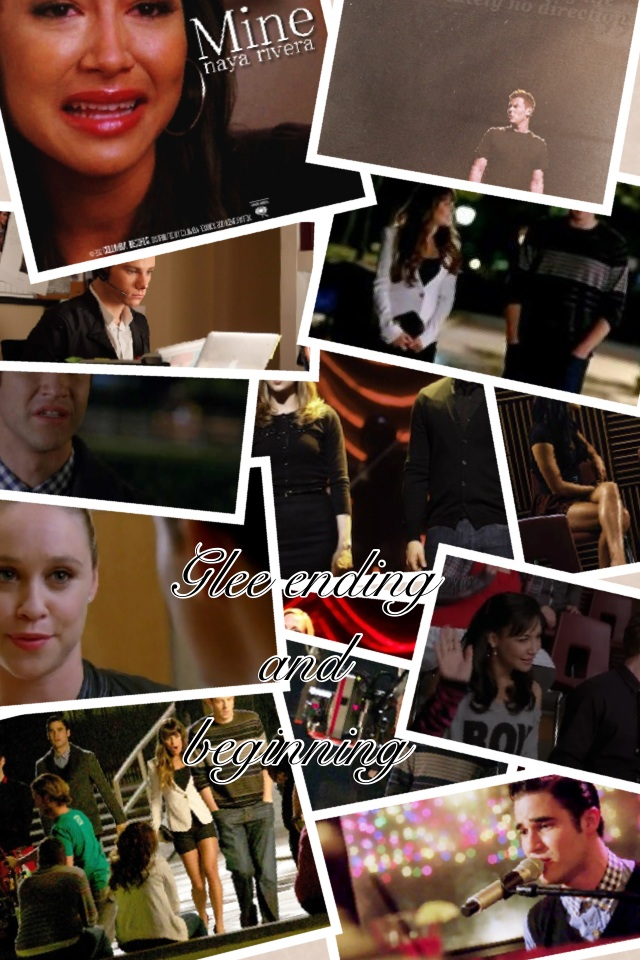 Glee ending and beginning collage
